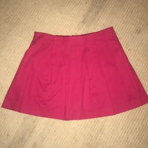 ZARA Hot Pink pleated Skort with Pockets
